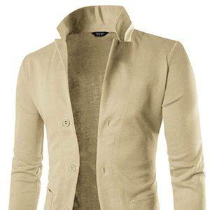 Other - Mens Casual Slim Fit Blazer 3 Button Suit Sport